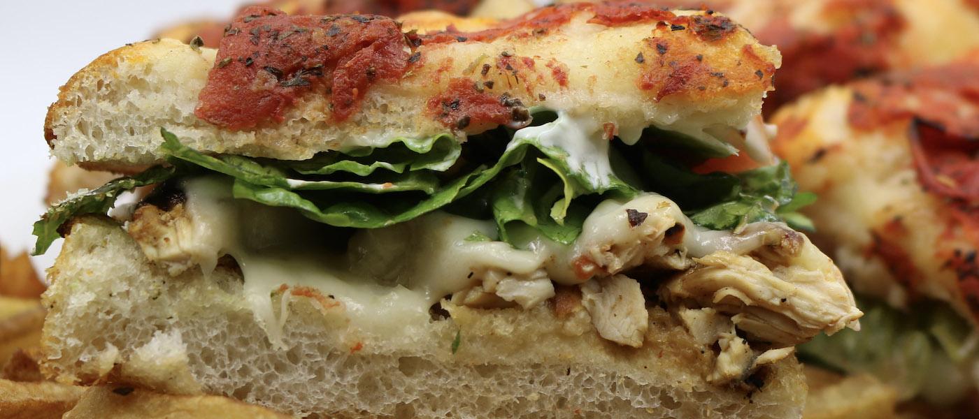 Foccacia sandwich at Salerno's Pizza